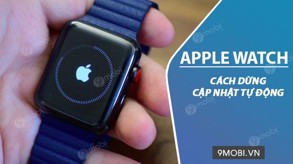 cach dung cap nhat tu dong tren apple watch