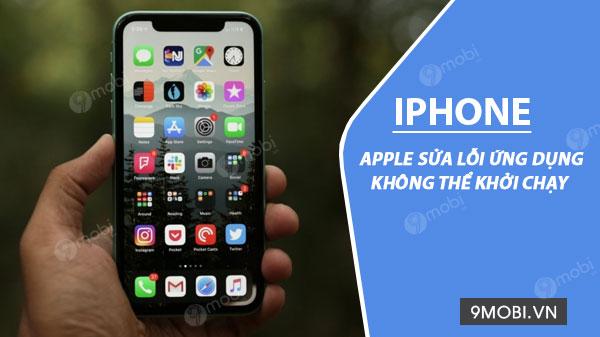 apple sua loi ung dung khong the khoi chay