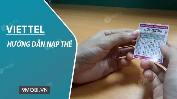 cach nap the viettel
