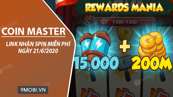 link nhan spin coin master mien phi ngay 21 6 2020