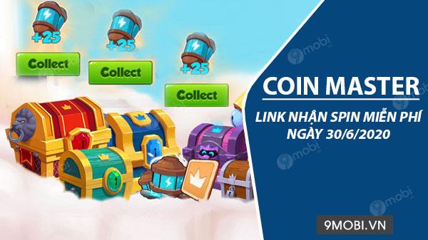 link nhan spin coin master mien phi ngay 30 6 2020