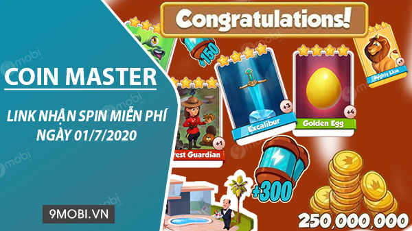 link spin coin master free ngay 01 7 2020