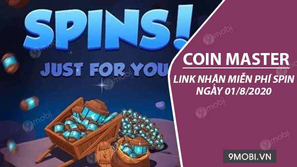link chay spin coin master free ngay 01 8 2020