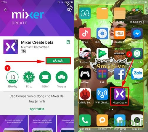 cach stream game tren ios va android bang mixer create