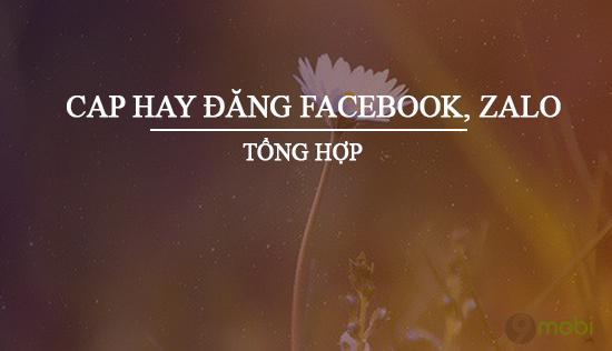 cap hay dang facebook zalo