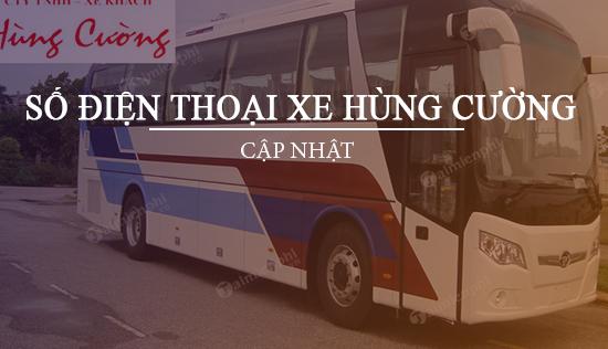 Số điện thoại xe Hùng Cường, Tuyến Sài Gòn - An Giang, Châu Đốc, Đồng