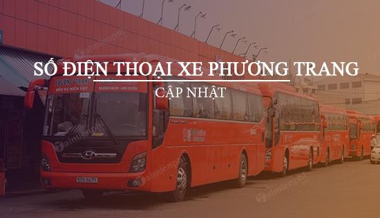 Số điện thoại xe Phương Trang, chạy tuyến Hà Nội, TP.HCM, Đà Nẵng, Nha