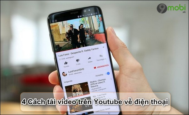 cach tai video tren youtube ve dien thoai
