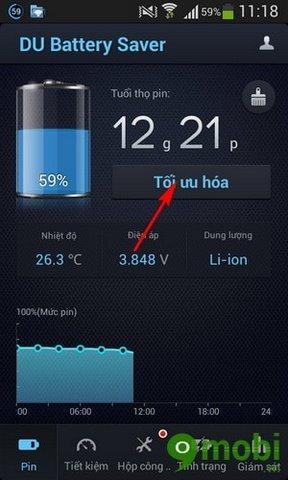cach dung du battery saver