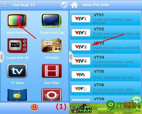 cach dung Viet Mobi TV