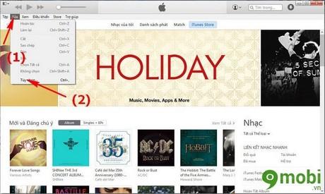 tắt chức năng tự động đồng bộ trên iTunes