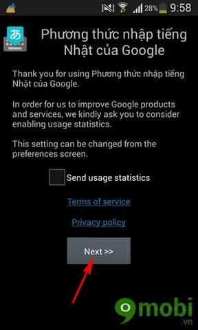 cach cai ban phim nhat cho Android