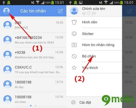 cach chan tin nhan tren Android