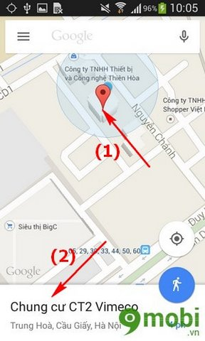 cach chia se vi tri trong Google Maps