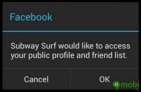 khac phuc loi ket noi Subway Surfers voi Facebook