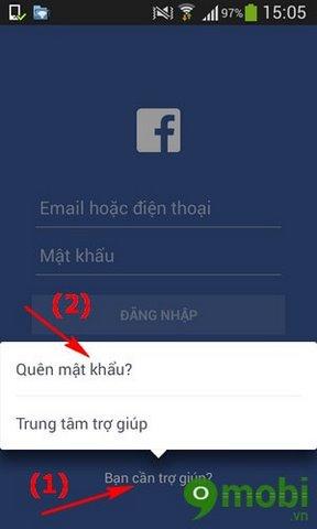 cach lay lai mat khau facebook