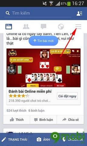 tat am thanh Facebook