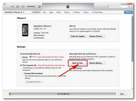 cach Restore iPhone 6