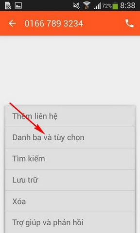 chan tin nhan tren Android