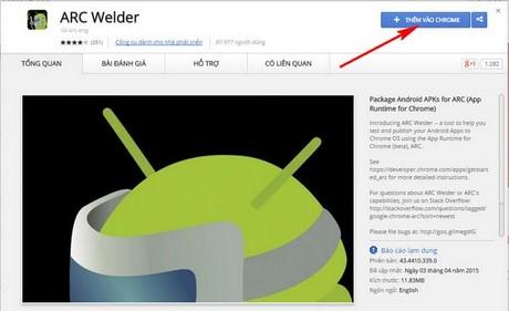chay ung dung Android tren may tinh