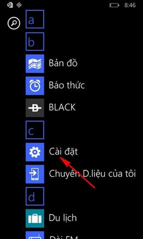 dieu chinh do sang man hinh windows phone
