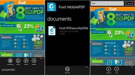 tai Foxit Mobile PDF cho Windows Phone