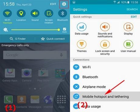 phat wifi tren Galaxy S6
