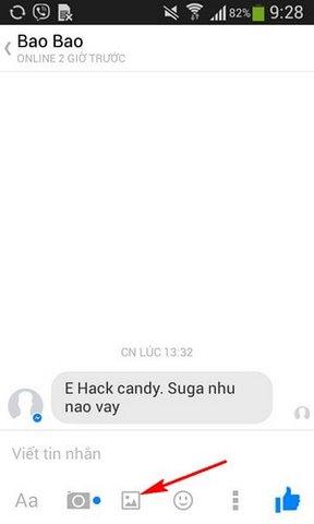 Cach gui anh tren Facebook Messenger