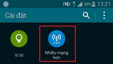 Khac phuc loi khong phat duoc Wifi tren Galaxy S5