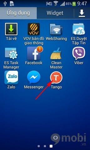 tao tai khoan Tango tren Android