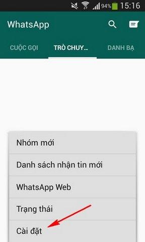 xoa tai khoan Whatsapp Messenger