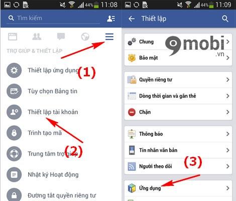 tat loi moi choi game tren facebook cho android