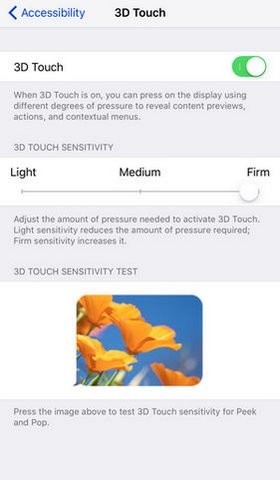 tang toc 3d touch, giam toc do 3d touch, dieu chinh toc do 3d touch, thay doi toc do 3d touch