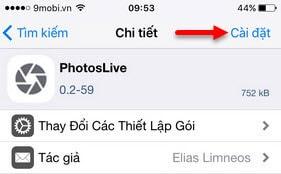 tweak photoslive cho iphone