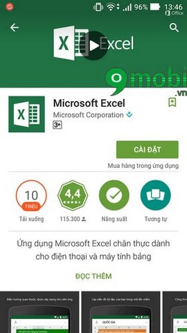 excel cho android