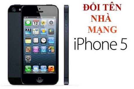 doi ten nha mang iphone 5