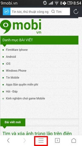 xoa cookie UC Browser