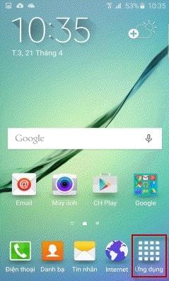 Xoa tai khoan Google tren Galaxy S6