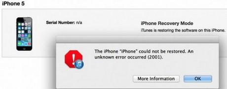 khac phuc loi 2001 khi restore iPhone
