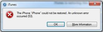 khac phuc loi 53 restore iphone