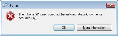 iphone loi 6 khi restore