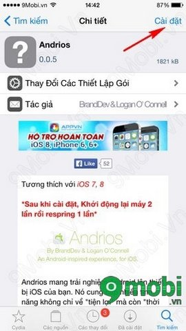 bien iPhone 6 thanh dien thoai Android