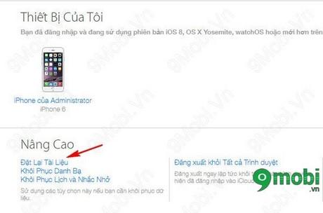 Khoi phuc du lieu da xoa bang iCloud