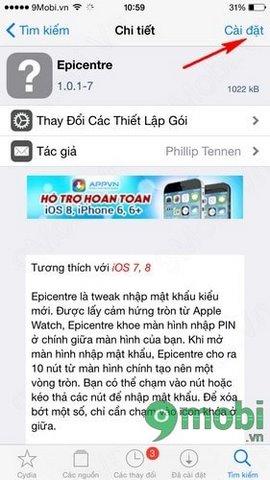 xep mat khau iPhone 6 theo hinh tron