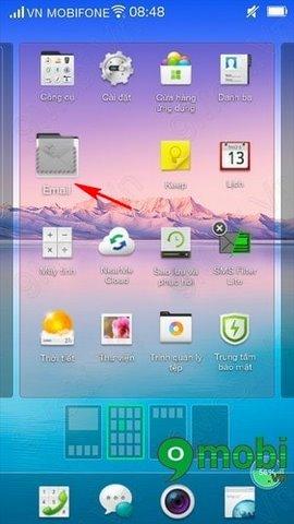 Tạo thư mục chứa ứng dụng trên Oppo