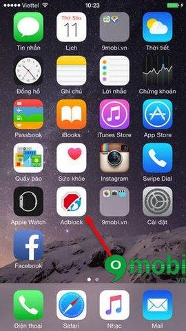 Gỡ Adblock Browser trên iPhone