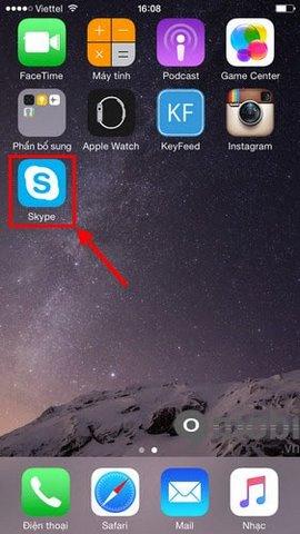 Cách xem thông tin bạn bè Skype trên iPhone, iPad , iOS 9