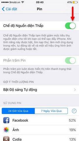bieu tuong pin iphone mau vang
