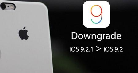 ha cap iOS 9.2.1 xuong iOS 9.2