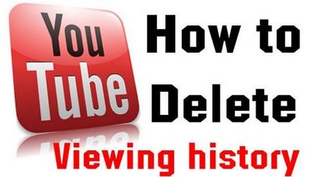 xoa lich su youtube